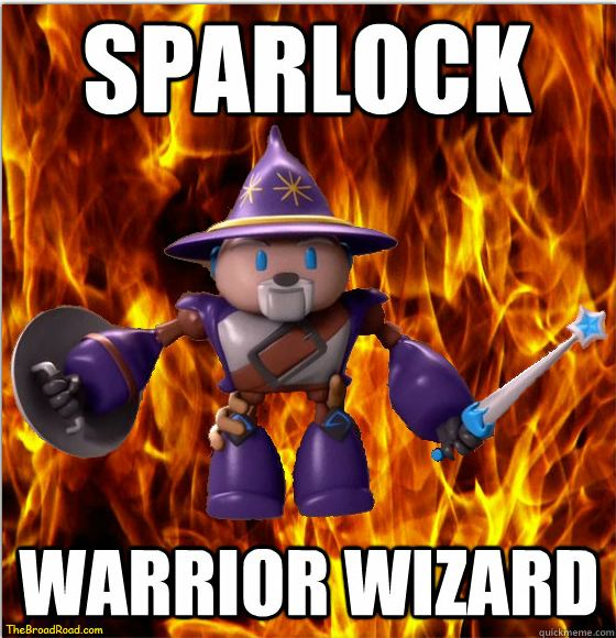 Sparlock Warrior Wizard